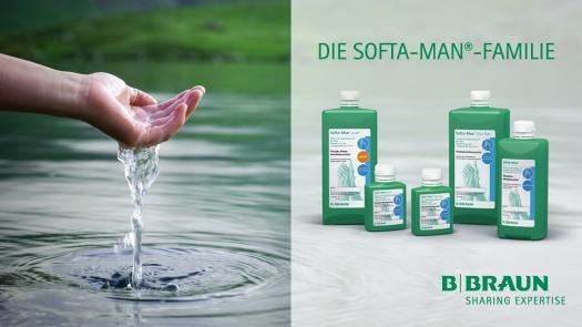 Die SOFTA-MAN Händedesinfektions - Familie